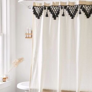 Urban Outfitters Topanga Fringe Shower Curtain